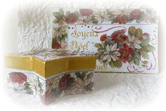 Piatto e scatola natalizia