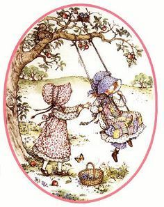 Holly Hobbie on Swing
