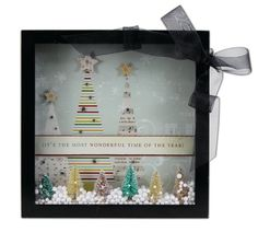 Crafts Direct Project Ideas: Wonderful Time Of Year 8x8 Shadow Box