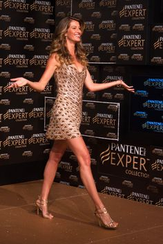 Gisele Bundchen presenting a new Pantene shampoo in Sao Paulo, Brazil - April 3, 2013 - Photo: Runway Manhattan/310pix