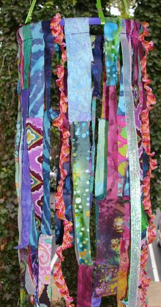 Hippie Bohemian Hanging Fabric Mobile by MusicTeachah on Etsy, $28.00. cute. I can do this for Trintys room and or art studio
