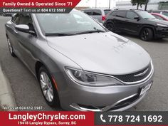 #2015 #Chrysler #200 C, #AccidentFree, #LocallyOwned nicely equipped with navigation, safety rear camera, leather seats, a 6-way power front passenger's seat, dual-zone automatic climate control with a humidity sensor, heated front seats, a heated steering wheel and rear-seat heat and air conditioning vents, panoramic sunroof, remote start engine, leather wrapped heated steering with audio and cruise controls. #Langleychrysler