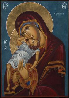 ΜΡ.ΘΥ__Παναγια (Theotokos by Fr. Damian Higgins