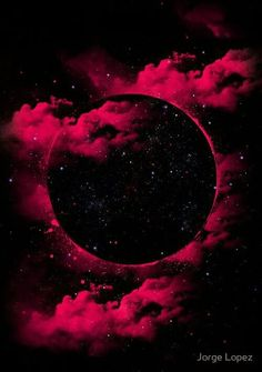 """Aside from the fact that a black hole is a black void. Hence the name, """"Black Hole."""" But it's pretty. Who knew that black holes could look this beautiful? A stunning creation by Jorge Lopez Ramirez."""