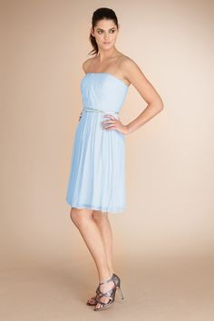 Bridesmaid dress - should go well with the blue hydrangeas I have in mind for my bouquet