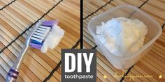 One of the ways I save money is to make my own toothpaste. For this DIY toothpaste, you'll need some baking soda, coconut oil, mint oil, and optional sweetener like Stevia of Xylitol.