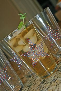 Star drinking glasses
