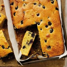 This Lemon And Blueberry Drizzle Cake Recipe is packed with blueberries and makes a lovely cake for afternoon tea, or served warm with cream for dessert. Baking Recipes, Cake Recipes, Dessert Recipes, Desserts, Baking Ideas, Lemon Cake Filling, Citrus Cake, Drizzle Cake, Scottish Recipes