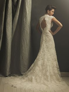 The back of my wedding dress-Allure Couture. Got it at Low's in Brinkley, AR.