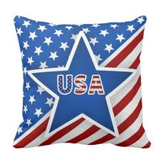 Soft Pillows, Throw Pillows, Chicago Cubs Logo, Favorite Holiday, Custom Pillows, 4th Of July, Red And White, Flag, Make It Yourself