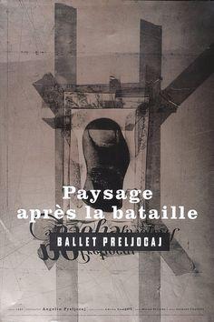 """PG091 """"Paysage après la bataille"""" Ballet Preljocaj Poster by Vaughan Oliver (1998)"""