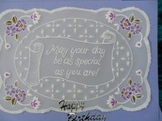 Handmade Card - Parchment Craft by Craftsbylindyloo on Etsy
