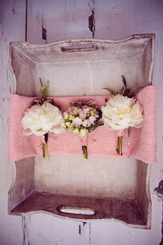 Wedding Buttonhole and Boutonniere Ideas~ Vintage, Retro and Whimsical Inspiration by Love My Dress Floral Wedding, Wedding Bouquets, Wedding Flowers, Bridesmaid Flowers, Bride And Groom Gifts, Groom And Groomsmen, Perfect Wedding, Our Wedding, Dream Wedding