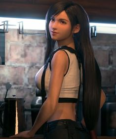 Final Fantasy 7 Tifa, Final Fantasy Girls, Final Fantasy Characters, Final Fantasy Vii Remake, Fantasy Series, Arte Cyberpunk, Cyberpunk Girl, All Star, Cloud And Tifa