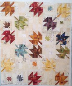 Scrappy Modern Maple Quilt unfinished