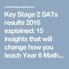 Key Stage 2 SATs results 2016 explained: 15 insights that will change how you teach Year 6 Maths in 2017