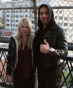 Michelle Williams & Ryan Gosling on the set of Blue Valentine