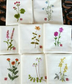 The Beauty of Japanese Embroidery - Embroidery Patterns Handkerchief Embroidery, Sashiko Embroidery, Embroidery Flowers Pattern, Embroidery Bags, Simple Embroidery, Japanese Embroidery, Hand Embroidery Stitches, Silk Ribbon Embroidery, Hand Embroidery Designs