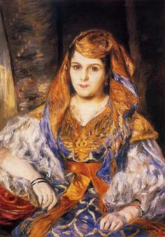 Madame Stora in Algerian Dress - Pierre-Auguste Renoir