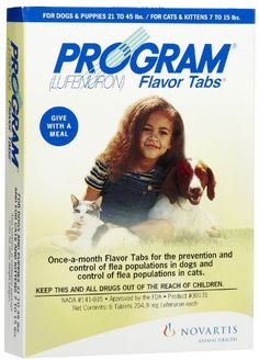 $49.90-$79.09 Novartis Program Flea Killer for Dogs 21-45 lbs. 6 Month Supply Flea & Tick - Program Flea Killer for Dogs is an oral medication that helps prevent flea infestations on your dog for one month.   No messy sprays or dips are required; the convenient flavored tablets can be given directly or mixed into your dog's food.  Dogs find its new, tastier formula irresistible. Program Flea Kill ...