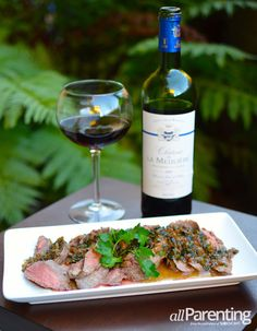 Steak Diane paired with Bordeaux