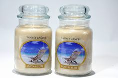 Yankee candle sand and surf! Sand Candles, Scented Candles, Yankee Candle Scents, Surfing, Living Room, Surf, Home Living Room, Drawing Room, Surfs Up