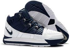 best website 10adf bfc1a Nike Zoom LeBron 3 White Navy Blue Silver Men s Size AO2434-103-1 Jordans
