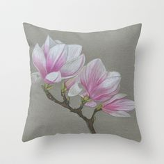 Magnolia's Throw Pillow by Art by Elle - $20.00