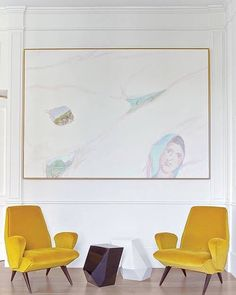 If you didnt know today is the traditional date of the foundation of Rome. Heres another image from Salvagnis Roman apartment featuring two citrus-colored armchairs by Nino Zoncada. Salvagnis building was designed by the 19th-century architect Gino Coppedè who is often referred to as the Italian Gaudi. Photo by 1st Dibs  LemonGrassDesign.com  #design #interiordesign #decor #style #lifestyle #interior #architecture by lemongrassdesign