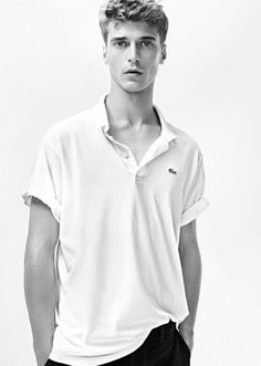 Lacoste - don't love the fit on the model but I need to get me a white Lacoste shirt