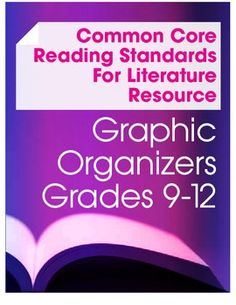 This set includes a variety of graphic organizers, standard overviews and classroom handouts to meet all the Common Core Reading Standards for Literature at the high school level. $