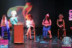 The Lineup for The #DragStarsAtSea #Roast of @MichelleVisage on the Carnival Conquest in 2014  @MiMiImFurst @WIllamBelli @JinkxMonsoon and Joan Rivers ( @Sharon_Needles)
