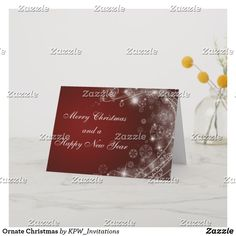 Ornate Christmas Holiday Card