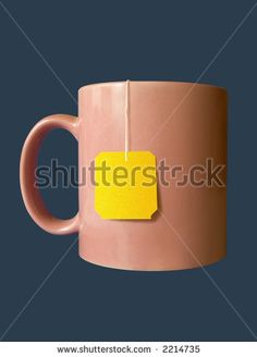 Cup With Yellow Tea Bag, Isolated Stock Photo 2214735 : Shutterstock