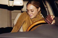 Chloe Sevigny // metallic gold look #style #fashion #celebrity