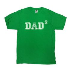 Dad Squared Shirt Two Children T-Shirt Two Kids TShirt New Dad Fathers Day Funny Christmas Cool Humor Parents Gift Dad Mom Tee - SA126