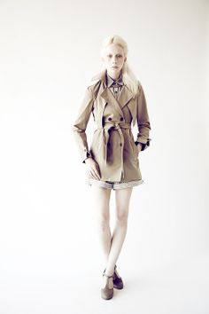 I like the coat but the model weirds me out. Samantha Pleet S/S 2012