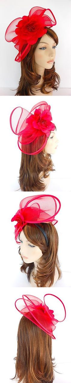 Womens Formal Hats 131476  New Church Derby Wedding Poly Fascinator Dress  Hat W Headband Fs a0222bac098a