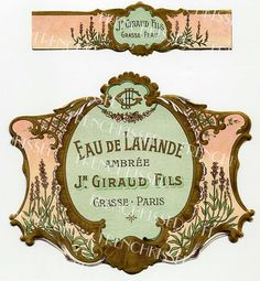 Instant Download LAVENDER French PERFUME label by FrenchKissed, $4.99