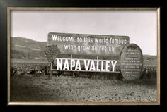 Welcome to Napa Valley sign Giclee Print at Art.com