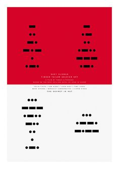 Dwell is a curated collection of photos and articles about good design. Here is what our community thinks about tinker tailor soldier spy posters Tinker Tailor Soldier Spy, Poster On, Film Posters, Cool Designs, Sir Paul, Morse Code, Paul Smith, My Love, Tattoo Ideas