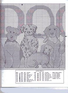Schematic cross stitch Love Dog 07