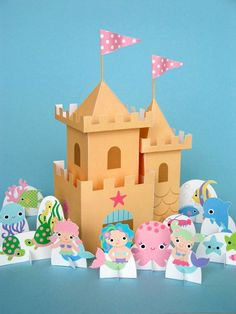 Mermaid printable castle and other incredible DIY printable toys at this Etsy shop