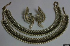 Beautiful designer earrings with anklets
