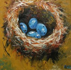 you can commission these nests to your own specifications: color, number of eggs to represent your family, etc.