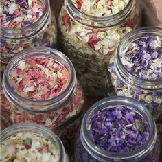 British Flower Confetti; basically dried flower petals and totally beautiful!