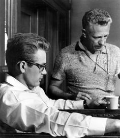 Movie Making  James Dean and director Nicholas Ray working on Rebel Without a Cause