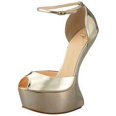 Giuseppe Zanotti heel-less platform d'orsay pump, $895.00. i would fall on my face, or my ass. embarrassing either way