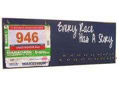 Every race has a story - running medals holder ENTER TO WIN https://www.facebook.com/RunningOnTheWall