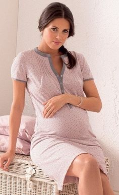 Maternity Night Gowns - A gown is an article of clothing, and they are available in diverse lengths to suit everybody with Maternity Nightwear, Maternity Pajamas, Maternity Gowns, Maternity Fashion, Modest Fashion, Girl Fashion, Maternity Nursing, Maternity Style, Best Maternity Leggings